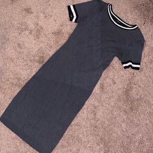 F21 Ribbed Bodycon T-Shirt Dress